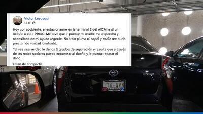 Da ejemplo de honestidad al buscar el dueño del auto que rayó