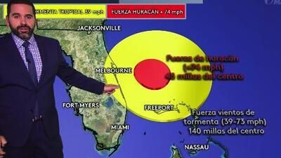 Esta sería la trayectoria del huracán Dorian por la costa este de EEUU