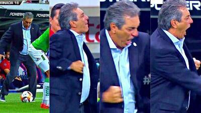 ¡El show del 'Jefe'! Así festejó Tomás Boy su primer triunfo con Chivas 2-1 sobre León