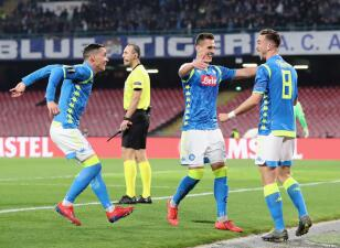 En fotos: Napoli casi define eliminatoria ante Red Bull Salzburg en la Europa League