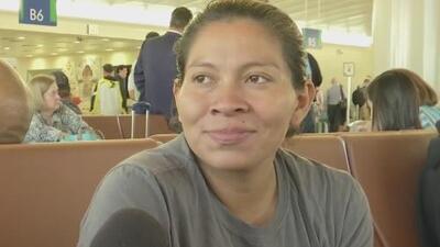 Esta madre que llegó a EEUU en la caravana de migrantes espera que le aprueben su petición de asilo