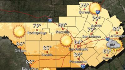 Frente frío trae temperaturas más frescas para el centro de Texas