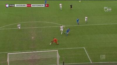 ¡Qué facilidades da la zaga del Augsburg! Belfodil hace doblete y asegura la victoria