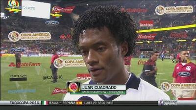 Juan Cuadrado: 'Nos regresamos tranquilos a casa'
