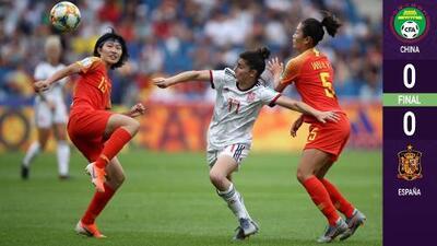 ¡Ofensivas contenidas! España y China igualan sin goles y ambas califican a Octavos de Final