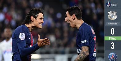 Al son de la cumbia uruguaya de Cavani PSG venció a Amiens