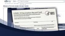 Venden tarjetas de vacunación de covid-19 falsas en eBay