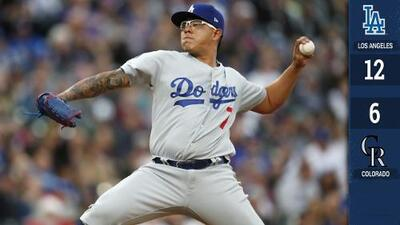 Los Dodgers vencen a los Rockies con actuación irregular de Julio Urías