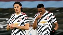 Cavani ni Martial estarán con Manchester United ante Leipzig