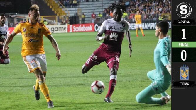 Saprissa 1-0 Tigres – GOL Y RESUMEN – Octavos de final ida – Liga de Campeones Concacaf