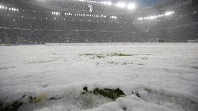 Descomunal nevada impide que se juegue el Juventus vs Atalanta