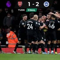 Arsenal sigue su mal momento y cae en casa ante el Brighton