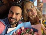 """Alma Cero 'Rosa Aurora' """"sorprendió"""" a Albertano con un arreglo de rosas"""