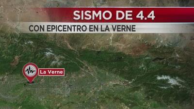 Registran sismo de magnitud 4.4 con epicentro en la ciudad de La Verne, Los Ángeles
