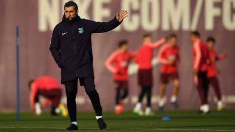 """Valverde se dijo con lo """"mejor de su equipo"""" para la vuelta ante el Manchester United"""