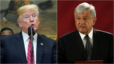 Mientras que Trump asegura que México está pagando el muro, AMLO dice lo contrario
