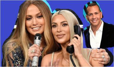 Kim Kardashian, la consentida de la noche de Jennifer Lopez y Alex Rodríguez