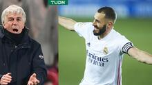 DT del Atalanta le 'teme' al regreso de Benzema para la vuelta