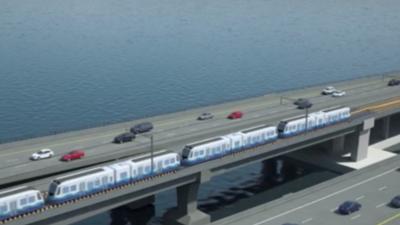 El nuevo tren ligero de Seattle avanzará sobre las aguas usando un puente flotante