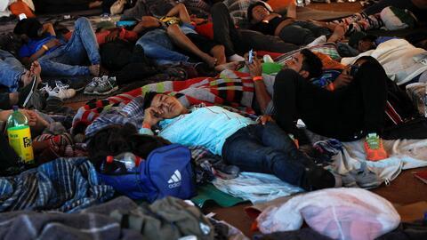 Migrantes de la caravana anuncian huelga de hambre para presionar a EEUU a que agilice sus solicitudes de asilo