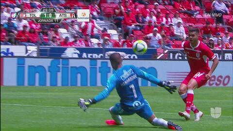 Gol de Toluca con el sello de La Volpe
