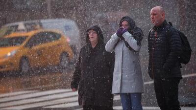 Así se comporta la tormenta invernal que pasa por Nueva York, New Jersey y Connecticut