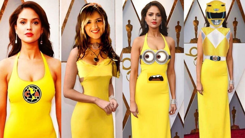 Los Memes Del Vestido Amarillo Que Eiza González Vistió Para