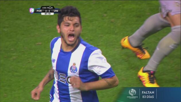 El 'Tecatito' Corona le dio la victoria al Porto sobre Uniao de Madeira