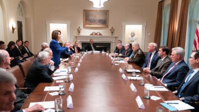 Donald Trump publica esta foto de Nancy Pelosi para insultarla (y la respuesta de ella la convierte en viral)