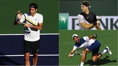Federer ganó, Del Potro convenció y Djokovic dijo adiós en Indian Wells
