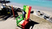Causa furor la silla gigante en playa de Loíza