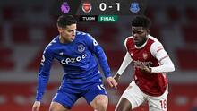 Everton y James sorprenden al Arsenal en la Premier League