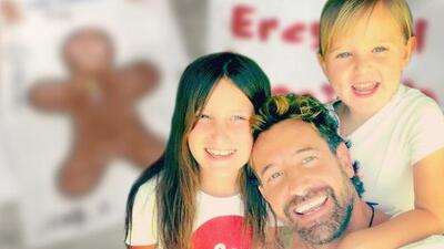 Las hijas de Gabriel Soto y Geraldine Bazán sorprenden a su papá al regalarle dos cartas con amorosos mensajes
