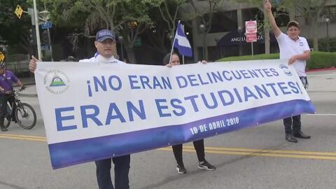 Comunidad nicaragüense en Los Ángeles conmemora el primer año de las protestas contra el régimen de Ortega