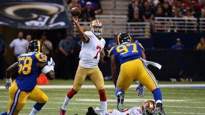 49ers 31-17 Rams: 3 pases de TD de Kaepernick y San Francisco ganó en St. Louis