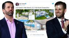 Así es la lujosa mansión que los hijos de Trump están vendiendo en Palm Beach