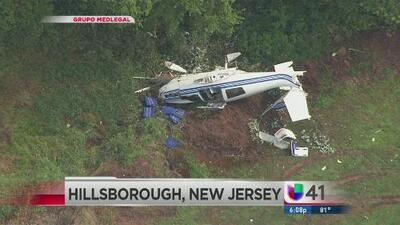 Una avioneta pequeña se estrelló en NJ