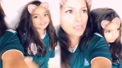 Mira la celebración: hasta la pequeña Aitana Derbez es hincha de la Selección Mexicana