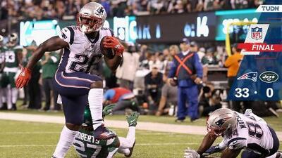 New England sigue invicto a costa de unos New York Jets infames