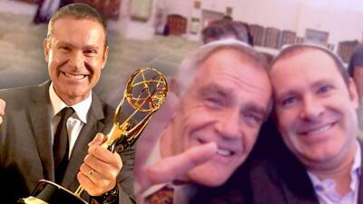 La emotiva coincidencia que vivió Alan Tacher al recibir el Emmy (y que lo hizo recordar a su fallecido padre)