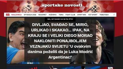 """La prensa croata está eufórica tras el 3-0 sobre Argentina: """"¡Modric fue Messi!"""""""