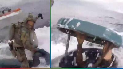 (Video) Narcosubmarino es atrapado por la Guardia Costera en impresionante persecución