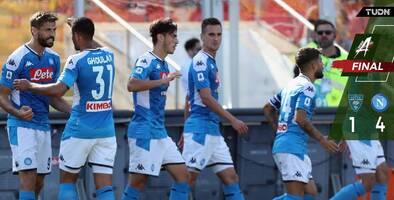 Con el Chucky 17 minutos, el Napoli superó al Lecce