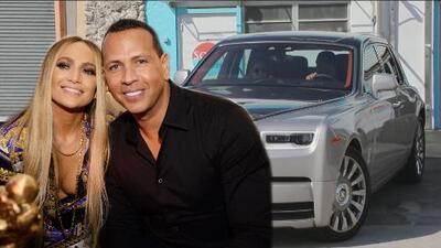 Cachamos a JLo y A-Rod en su lujoso Rolls Royce de más de 400,000 dólares al salir del gimnasio