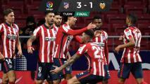 Héctor Herrera vio el triunfo del Atlético sobre el Valencia desde la banca