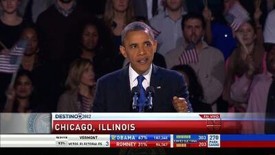 Barack Obama ganó la reelección