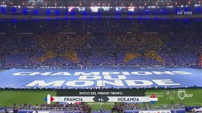 ¡Qué fiesta! Así recibieron a Francia en su estadio ante Holanda por la Nations League