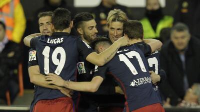 Valencia 1-3 Atlético de Madrid: El Atlético se impone y no pierde la estela del Barcelona