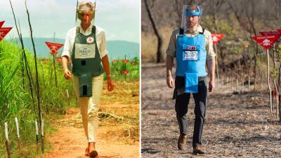 Las fotos del príncipe Harry caminando por el mismo campo minado que la princesa Diana ayudó a cambiar hace 22 años