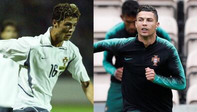 El debut de Cristiano Ronaldo en UEFA Nations League y su evolución en 16 años brillantes